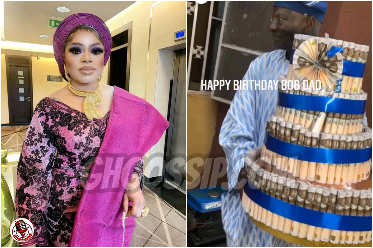 Bobrisky Surprises His Father With A New Lexus SUV Worth N8 Million & Money Cake (Photos)