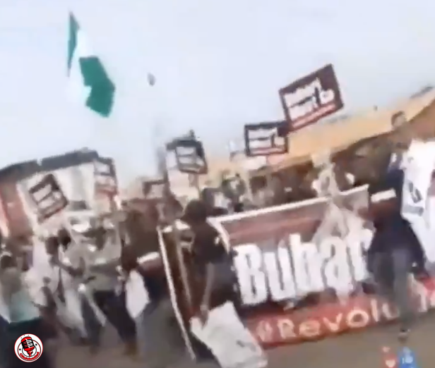 Scenes From Abuja As Large Crowd Hit The Streets To Protest (VIDEO)