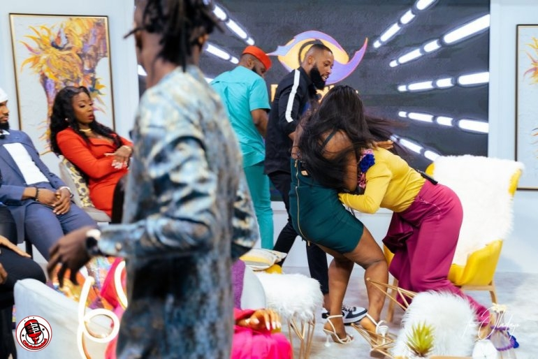 [Video] Lucy And Kaisha Fighty Dirty On Live TV During BBNaija Reunion 2021 min