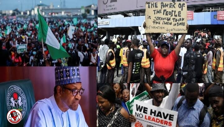BREAKING!! Buhari Must Go Protest Ongoing In Oyo State Now (Watch Video) min